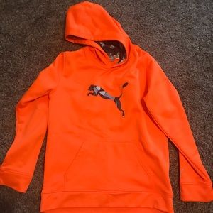 Orange puma hoodie